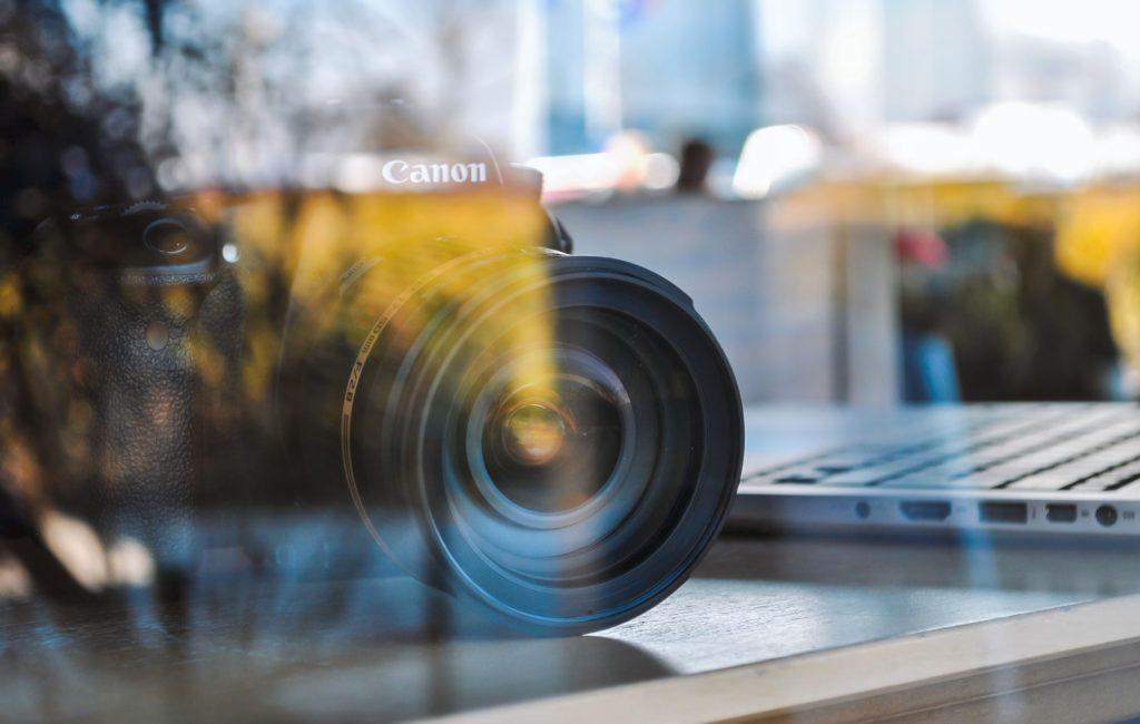 camera reflection through glass