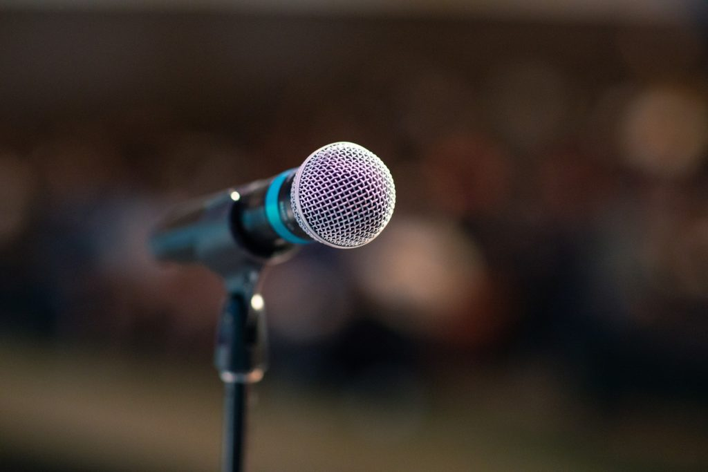 microphone for comments and sharing